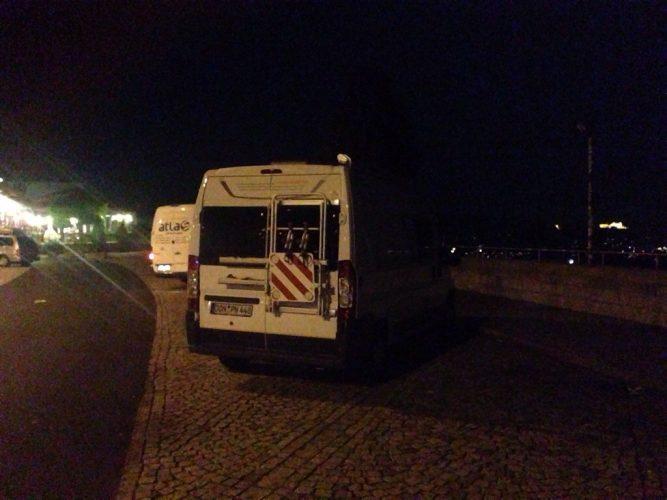 1. Tag: Unterwegs, am ersten Übernachtungsplatz angekommen