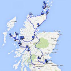 Scotland Round Trip - die geplante Tour