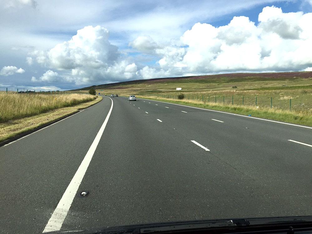 Regen und Sonne im Wechsel - Ab dem Lake District wird die Landschaft interessanter