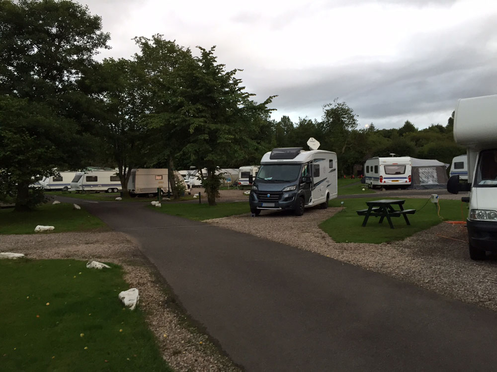 Lomond Woods Holiday Park am Südende des Loch Lomond