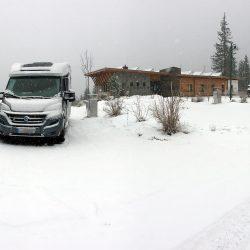 Wintercamping in Ehrwald am Fuß der Zugspitze