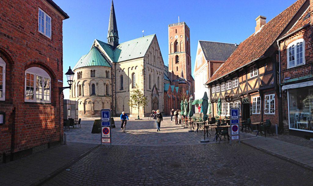 Innenstadt von Ribe in Dänemark
