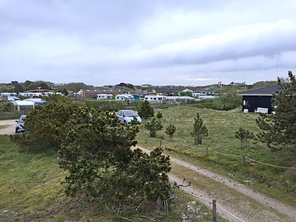 Dünenlandschaft auf Fanö direkt am Campingplatz