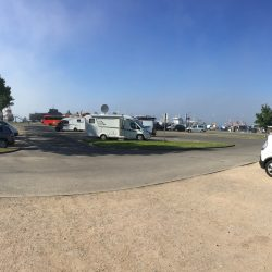 Wohnmobilstellplatz im Hafen in Burgstaaken auf der Ostsee-Insel Fehmarn