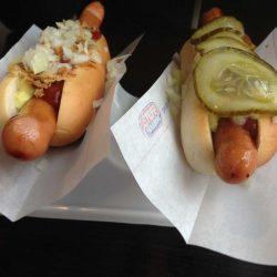 Typische Dänische Hotdogs