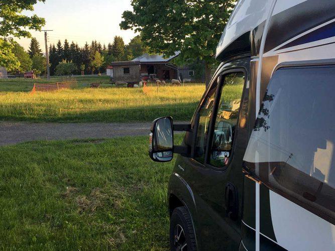Beim Landvergnügen im Allgäu mit dem Wohnmobil