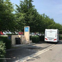Wohnmobil Entsorgungsstation auf Autobahnparkplatz in Luxemburg