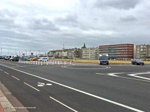 Parkplatz am Strand von Dieppe