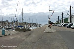 Wohnmobil Stellplatz im Hafen von Fécamp