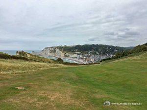 Golf Etretat Blick auf die Stadt