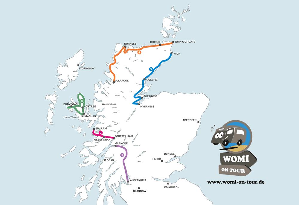 Mit dem Wohnmobil durch Schottland: Die schönsten Routen