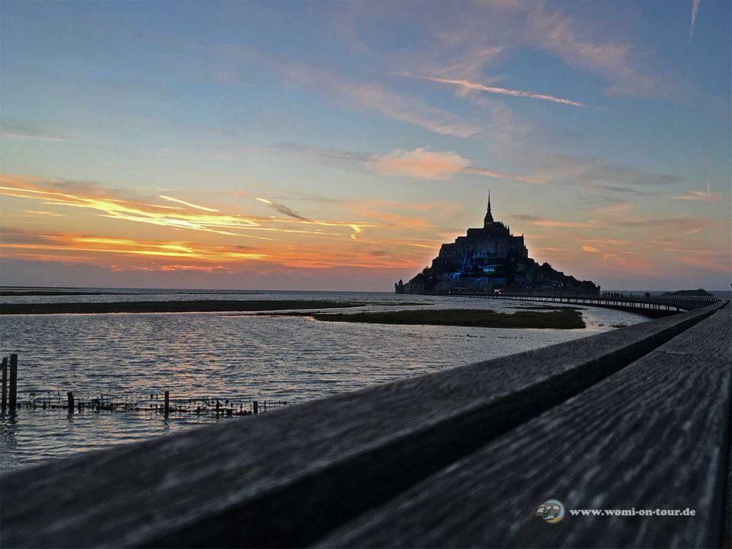 Mont-Saint-Michel bei Sonnenuntergang