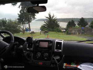 Blick auf die Bucht von Binic