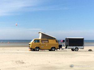 Mit dem Wohnmobil in Dänemark am Strand