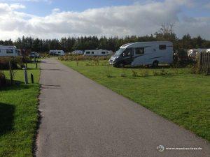 Mit dem Wohnmobil im Dänemark am Campingplatz