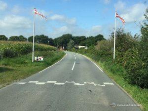 Landstraße in Dänemark