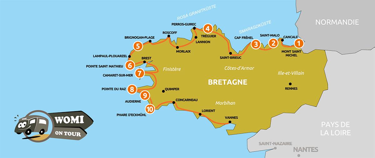 Wohnmobil Rundreise durch die Bretagne: 10 Highlights